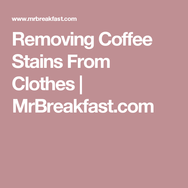 Coffee Stain Removal From Sink