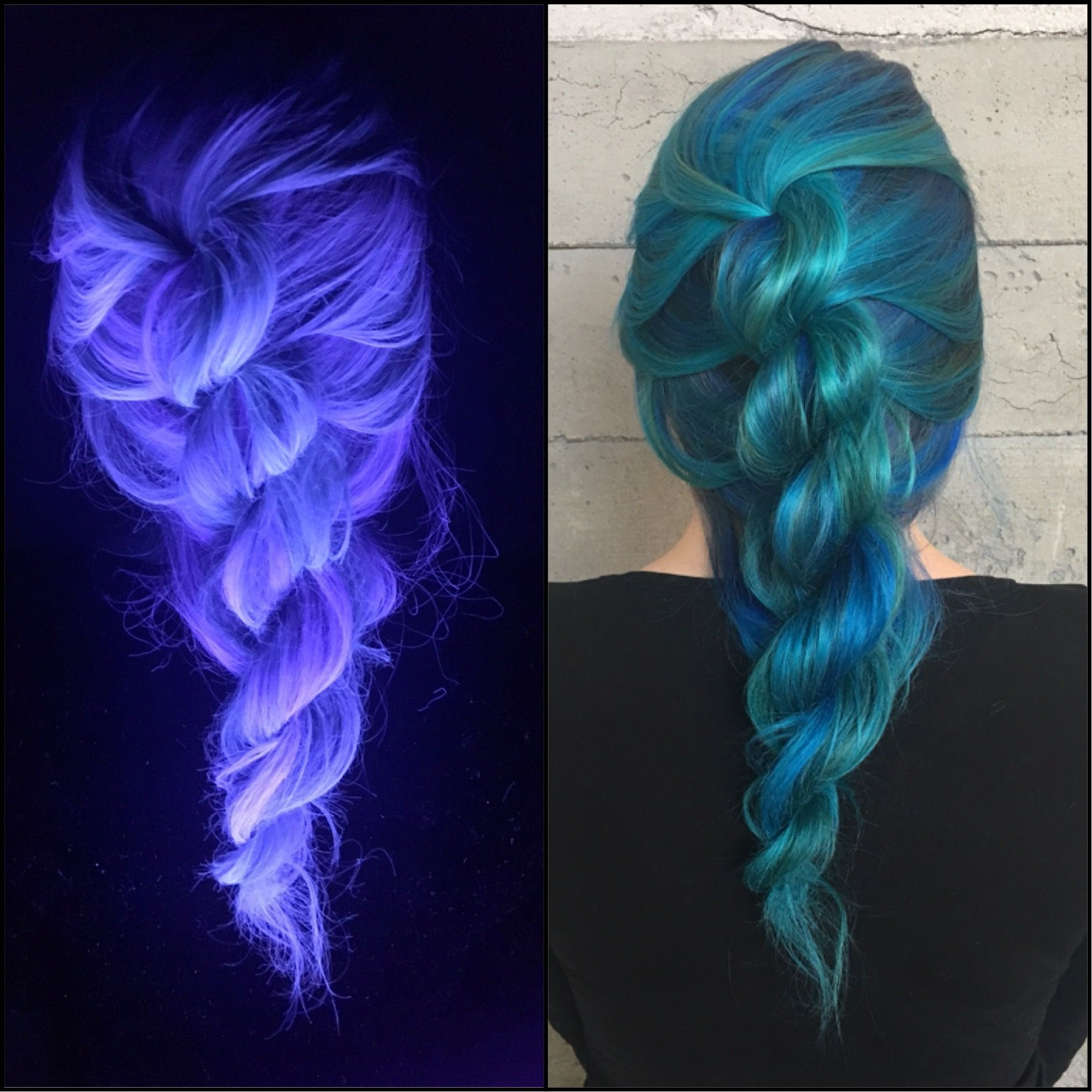 Color Is Underground Cosmetics Bold Blue And Teal And It Glows