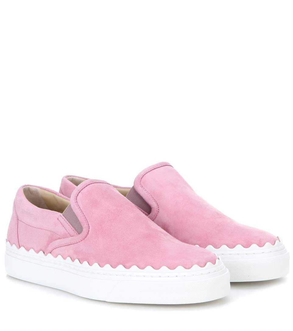 7a28f6a2 CHLOÉ Ivy Suede Slip-On Sneakers. #chloé #shoes #sneakers | Favorite ...