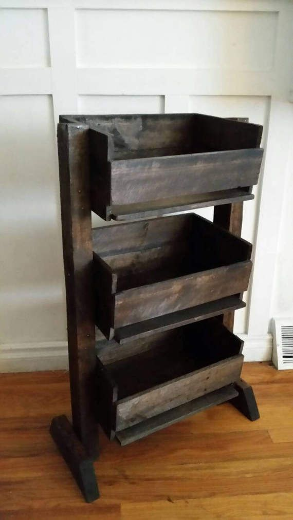 Reclaimed Produce Stand Fruit And Veggie Stand Rustic Wooden Vegetable Crate Produce Storage Vegetable Bin Kitchen Storage Farmhouse With Images Rustic Storage Produce Storage Fruit And Vegetable Storage