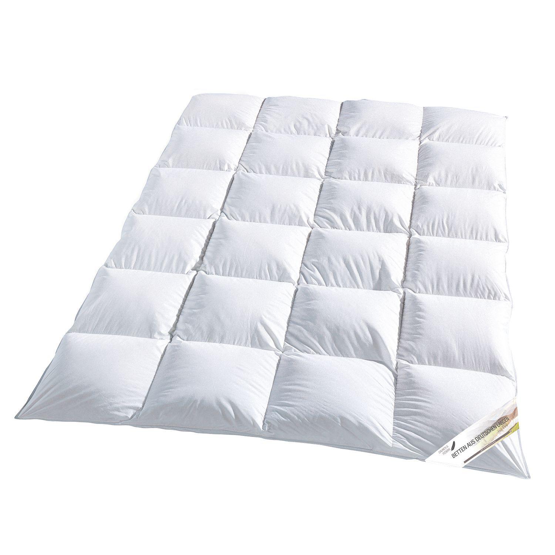 Steppdecke 100 Baumwolle Kopfkissen Decke Federbett 155x220