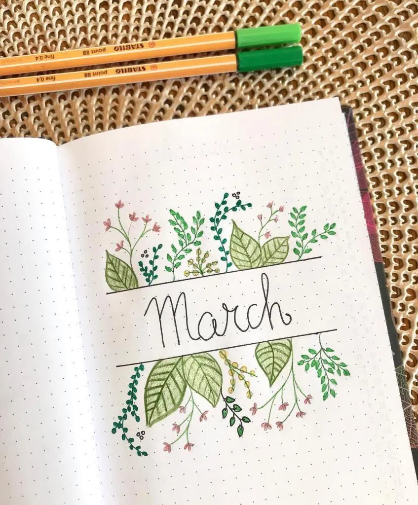 32 Best March Bullet Journal Cover Page Ideas - Bl