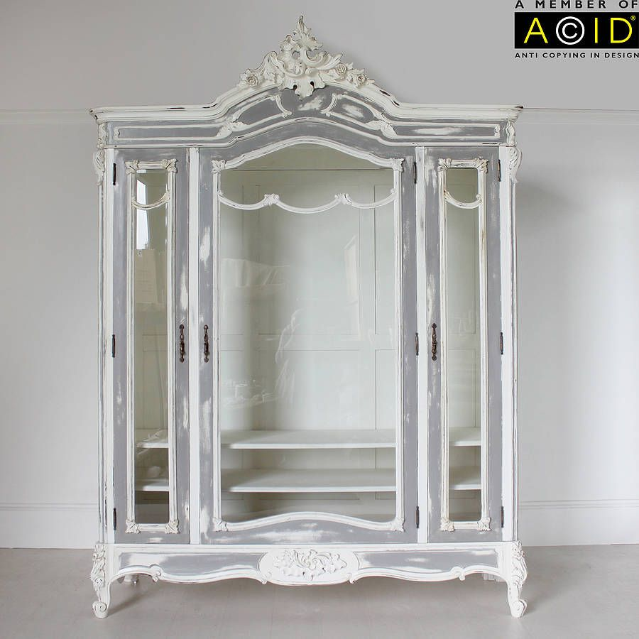 large glass fronted french armoire | french armoire, armoires and