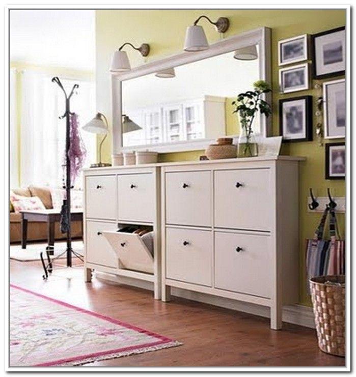 Hallway Shoe Storage Cabinet. This Is IKEA Hemnes Shoe