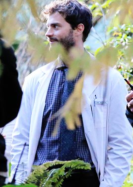 """ Jamie Dornan filming in Vancouver for his upcoming movie ""The 9th Life of Louis Drax"" """