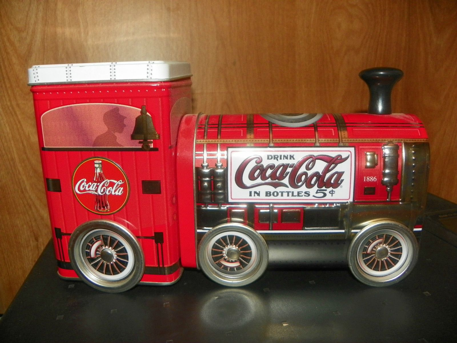Coca Cola Train Engine Tin Vintage