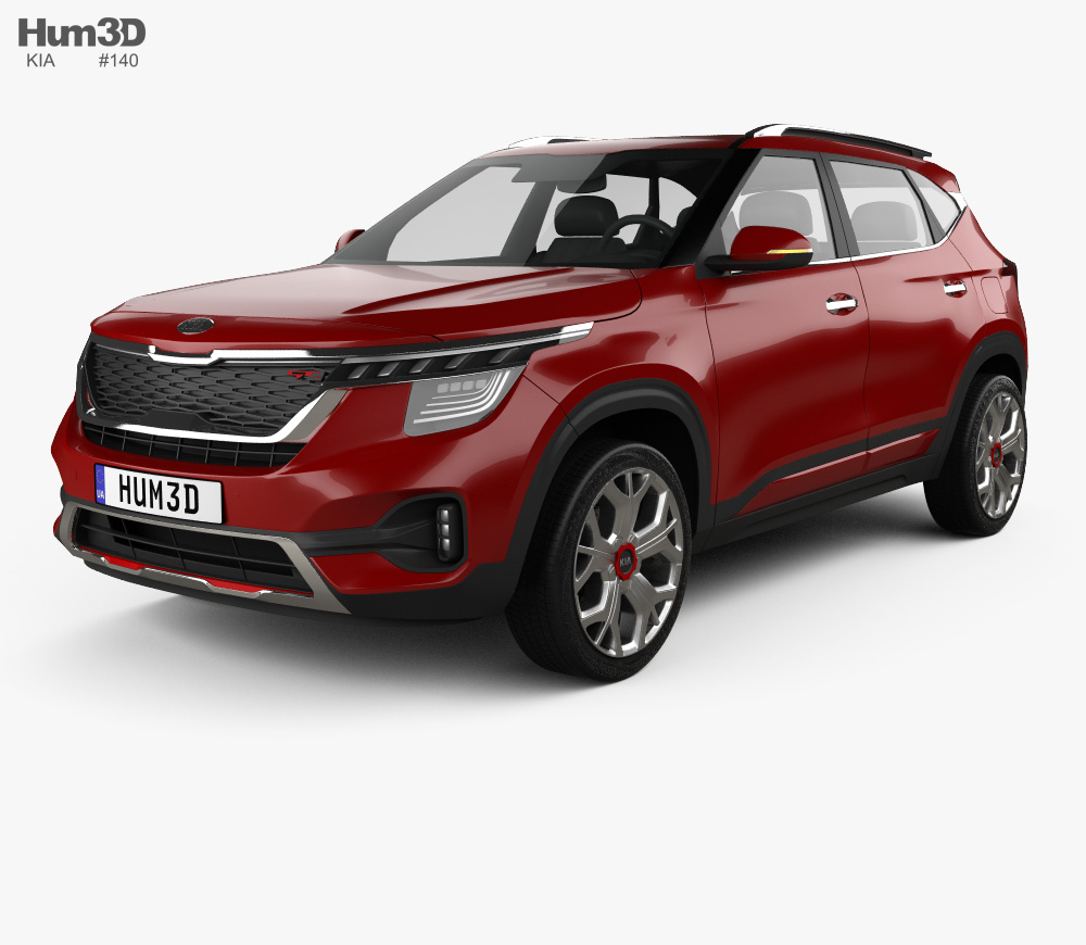 3d Model Of Kia Seltos Gt Line 2019 Kia 3d Model Model