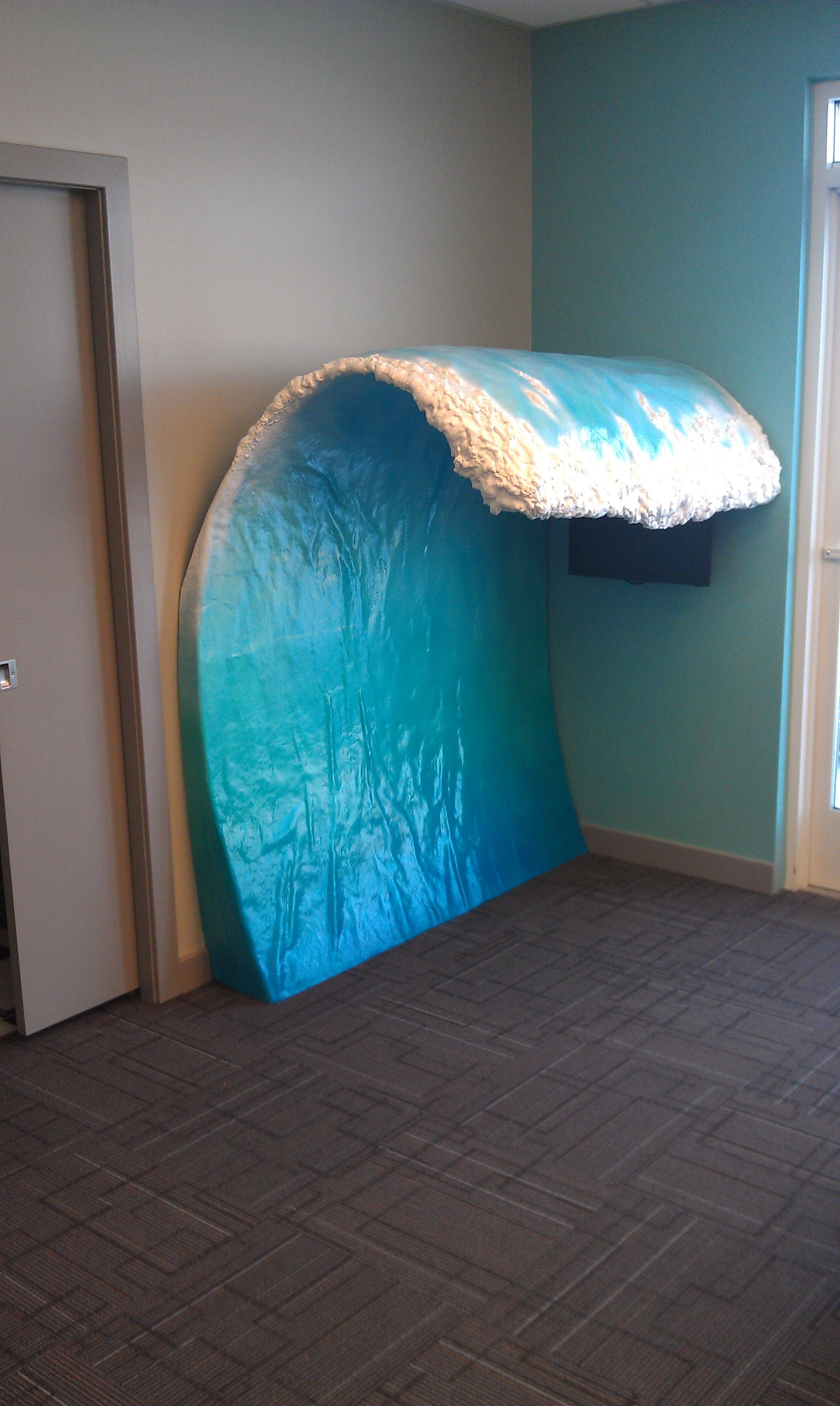 Surf theme-custom made fiberglass wave in a pediatric dental office ...