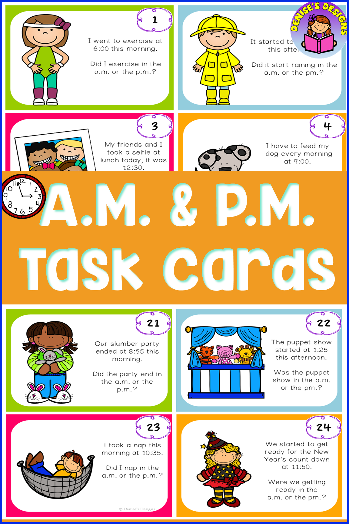 Am And Pm Activities To Increase Student Learning Of