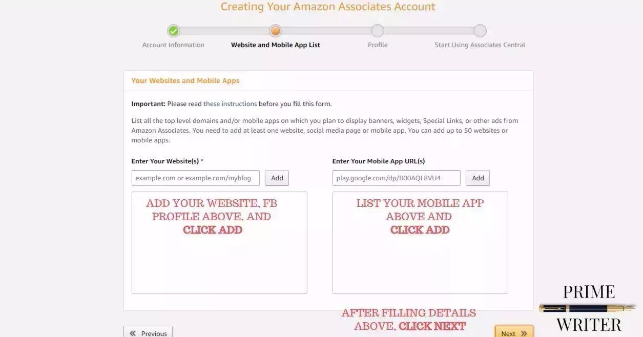 amazon associates account