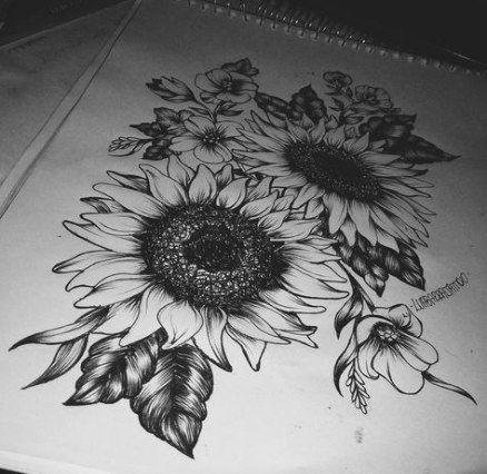 Photo of Tattoo Sunflower Blackwork 38 Trendy Ideas
