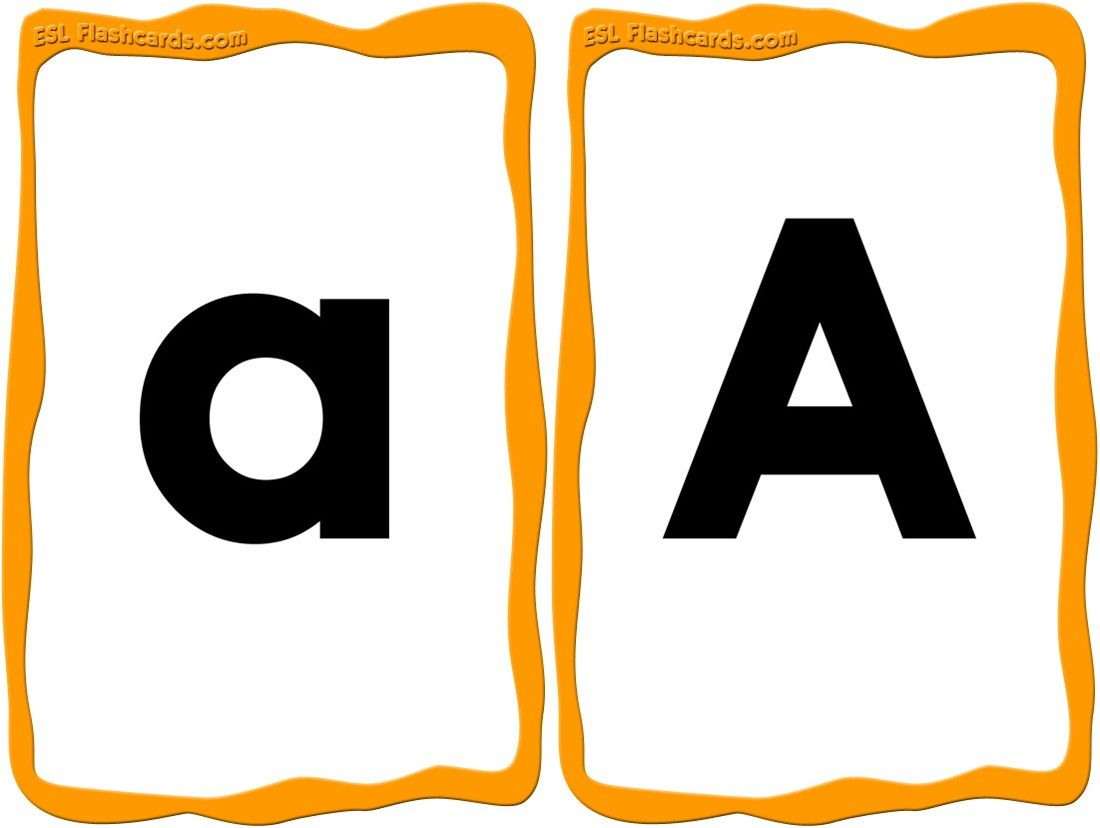 A great set of upper and lowercase alphabet cards from a for Flash cards alphabet letters