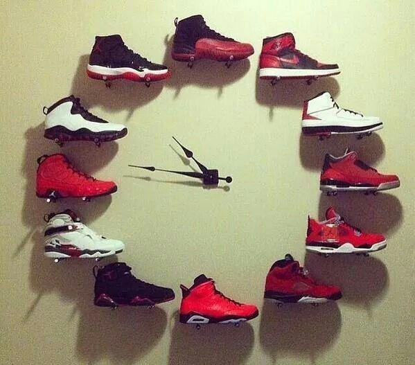 Jordan 1 12 Wall Clock Chambre De Style Basketball Tenues Pour Couples Astuce Rangement