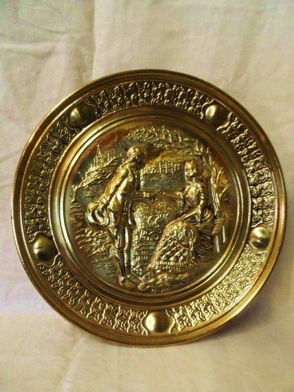 Antique Brass Wall Plates Awesome Handmade Brass Wall Hangingshandmade Englandrepousse Brass Plate Inspiration Design