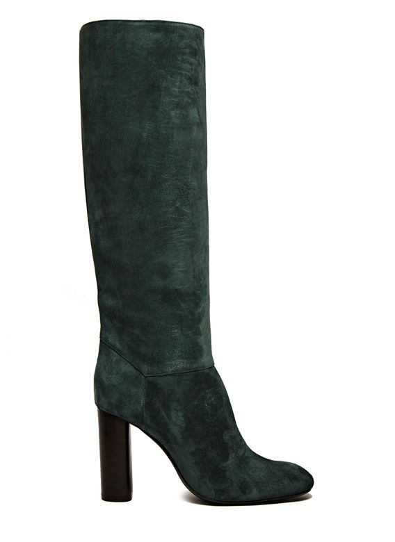 Lanvin Straight Suede Leather Boots