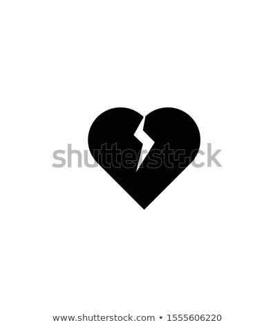 Broken Heart Silhouette Heart Icons Broken Heart Vector Illustration