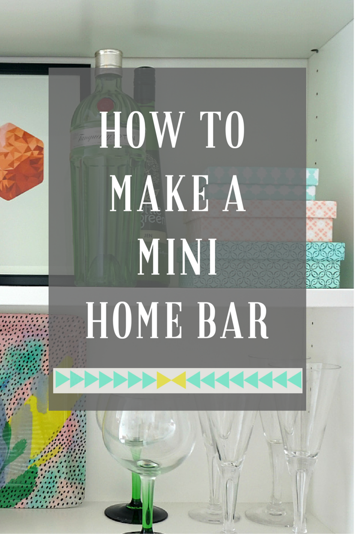How to make a mini home bar drinks trolley oliver bonas and bar carts