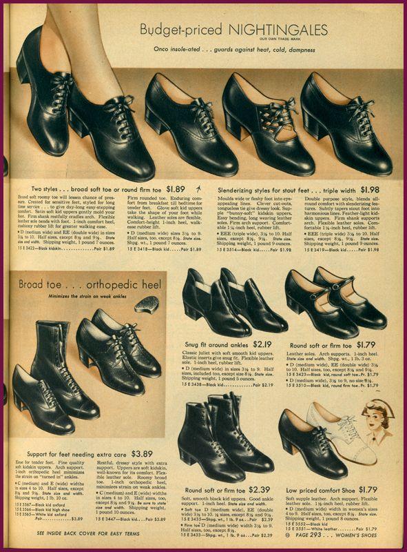 7a51e60512 Sears summer 1943 | Fashion and Style | Shoes, Vintage shoes, Fashion