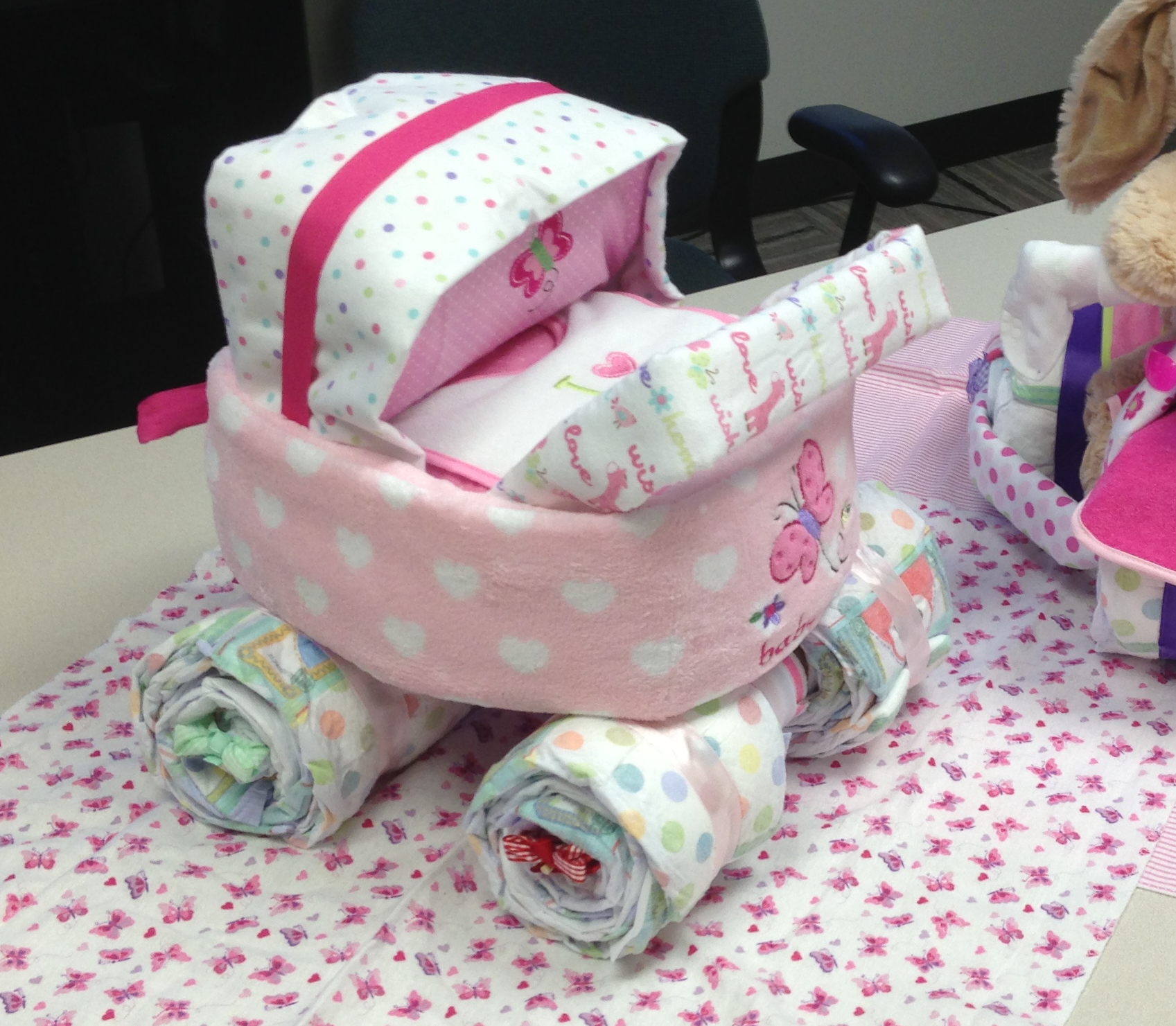 Things To Do With Diapers For A Baby Shower: Stroller. I Sure Hope I Get A