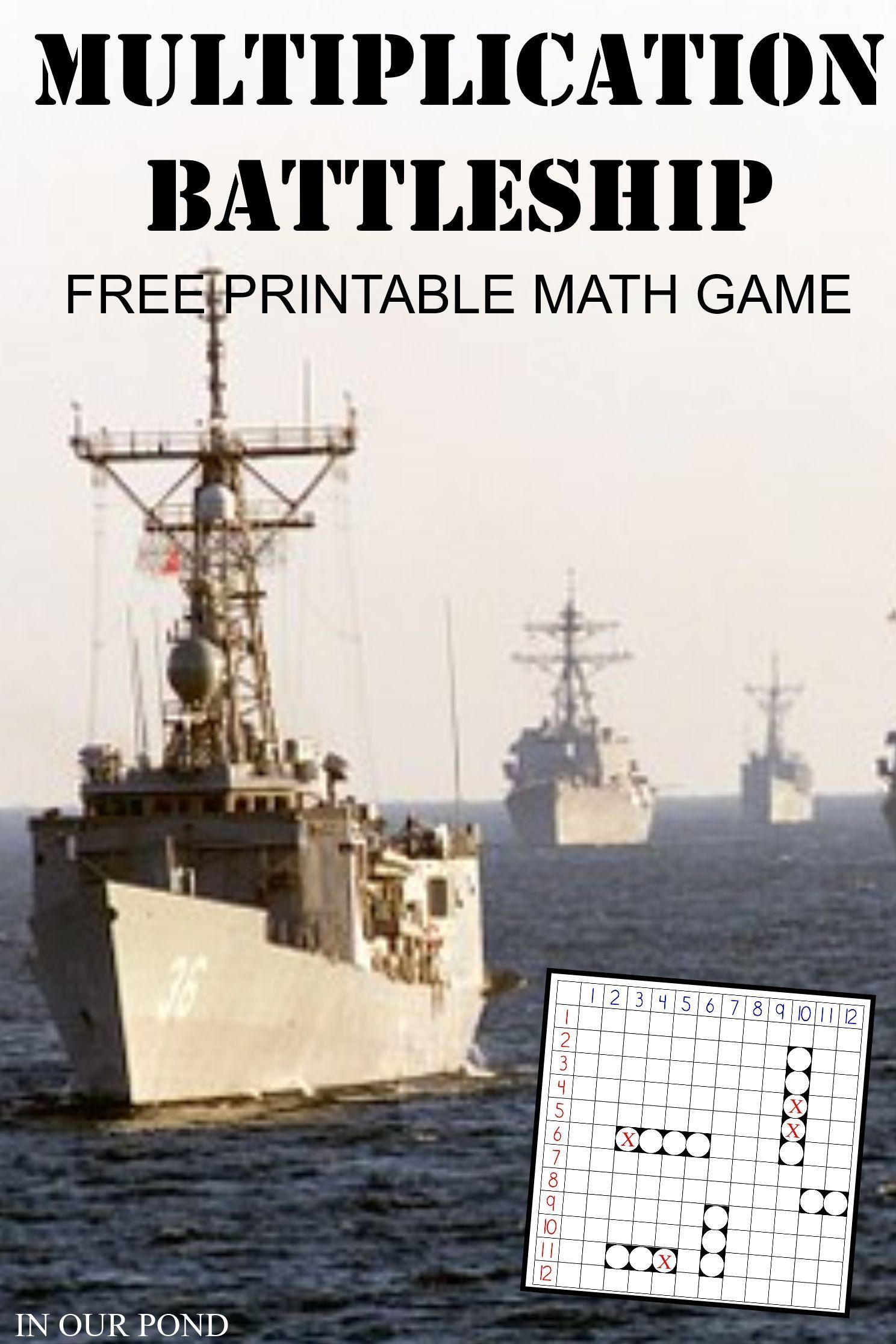 Multiplication Battleship For Math Practice
