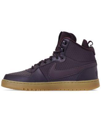 Nike Men S Ebernon Mid Winter Casual Sneakers From Finish Line Red 11 5 Nike Men Casual Sneakers Sneakers