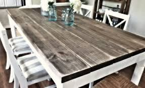 Really Like The White Diy Dining Room Diy Dining Room Table Diy Dining