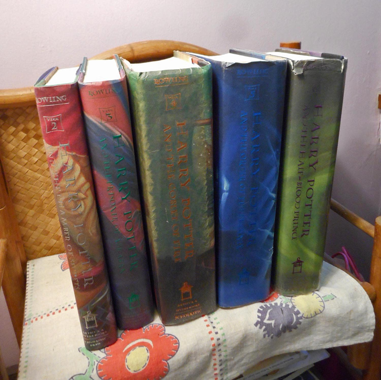 Harry potter 5 vol set j k rowling bks 2 6 young wizard