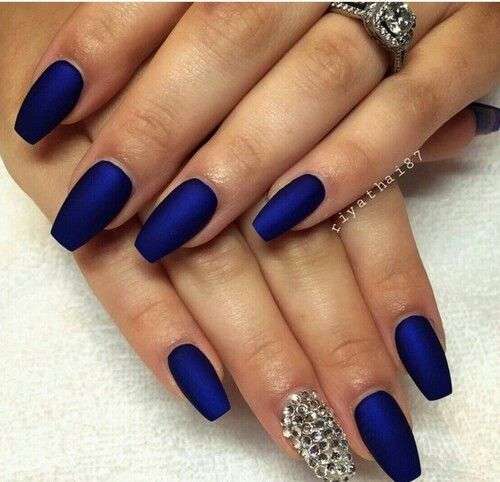 Matte purple blue | Nails | Pinterest | Prom nails, Make up and Gold ...