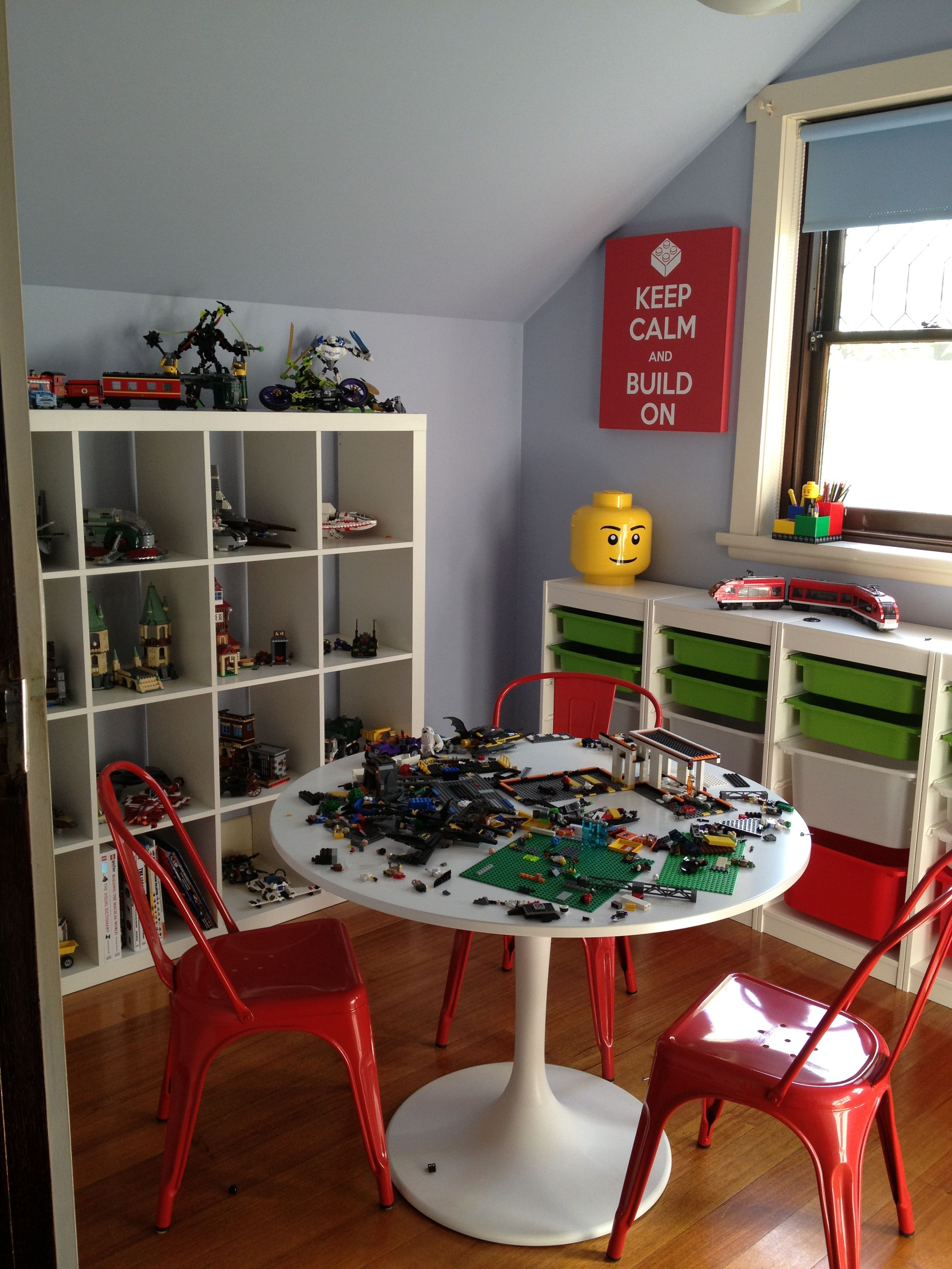 Lego Room All Done And Put To Good Use Shelving Table And Storage