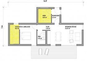 CUBIG Grundriss Singlehaus