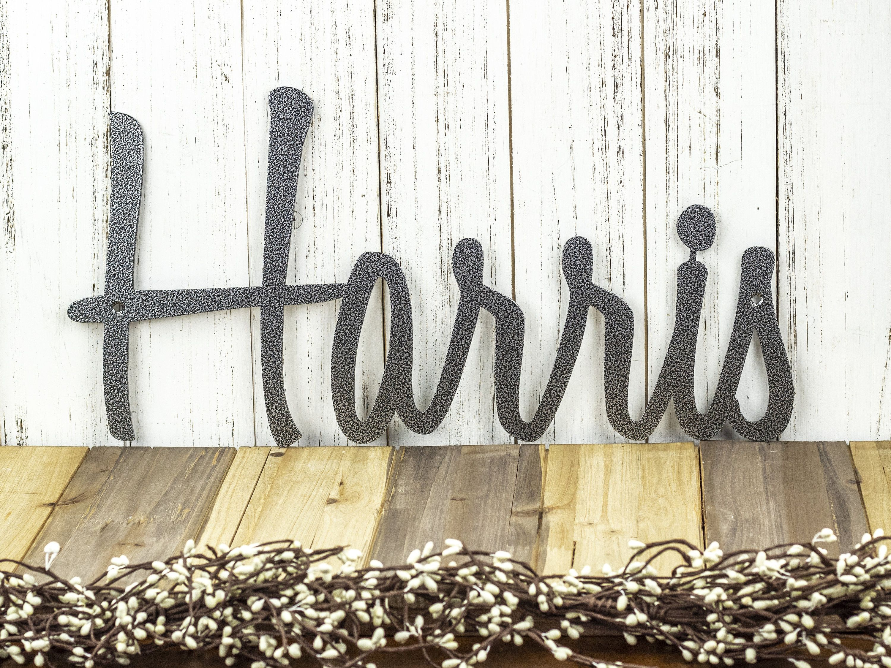 Custom Name Sign Metal Wall Art Outdoor Sign Last Name Etsy Outdoor Metal Wall Art Outdoor Signs Wall Signs