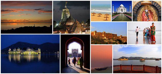 Collage Of Top 10 Tourist Destinations For December Visit