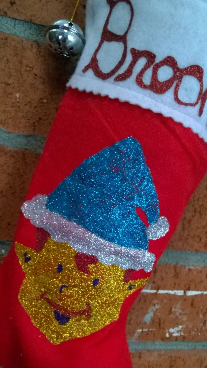 Hand Painted Felt Christmas Stocking with by ParkerSistersHoilday, $25.00