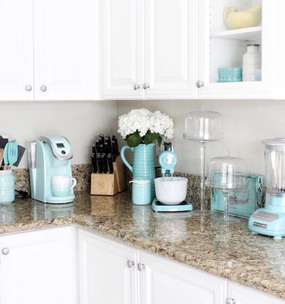 Mint Green Kitchen Decor From Amazon Diy Darlin Turquoise Kitchen Decor Aqua Kitchen Turquoise Kitchen