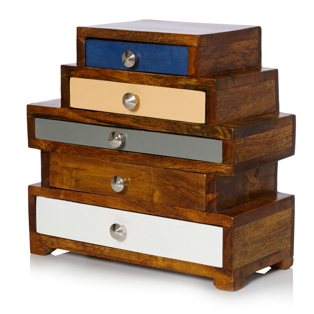 Buy Maggie Five Drawer Wooden Jewellery Box from Oliver Bonas Want