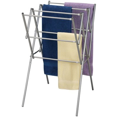 Expandable Dryer In Satin Silver Clothes Dryer Rack Indoor