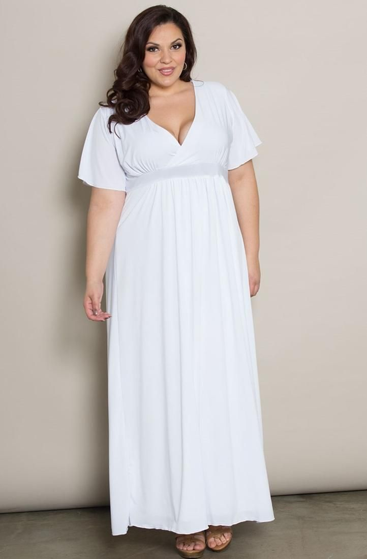 Plus size white summer maxi dress color dress pinterest models