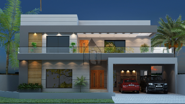 House  plan design  of 57x90 Front  elevation  and floor