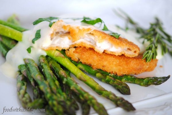 Oven Baked Sole & Asparagus with Lemon Butter Sauce