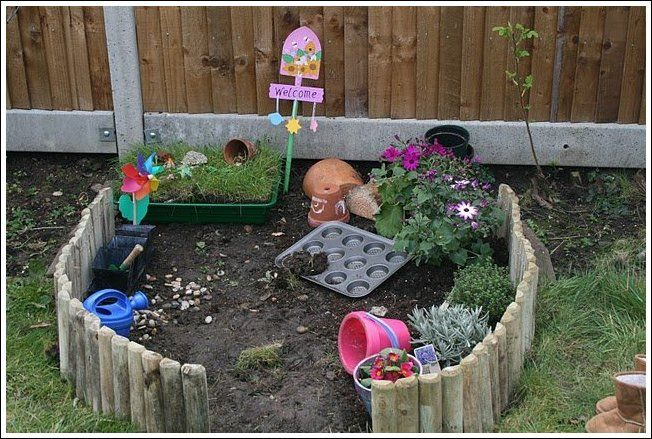 My Kids Are Always Digging Around In My Backyard. A Play Garden For Children.  [This Is Cute, But My Kids Would Dig Everywhere BUT The Digging Garden.