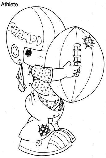 Niño Jugando Futbol Americano Para Colorear Dibujos Para