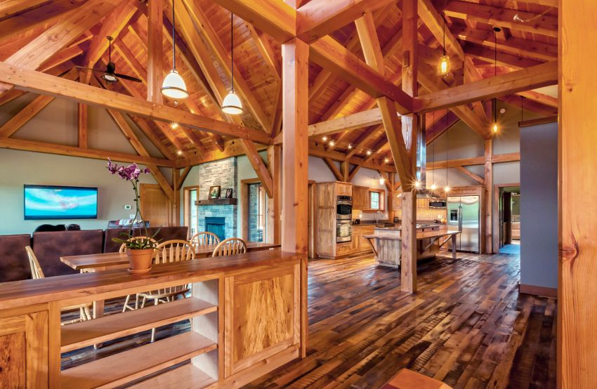 Timber Frame Home Interiors | New Energy Works | Timber Frame ...