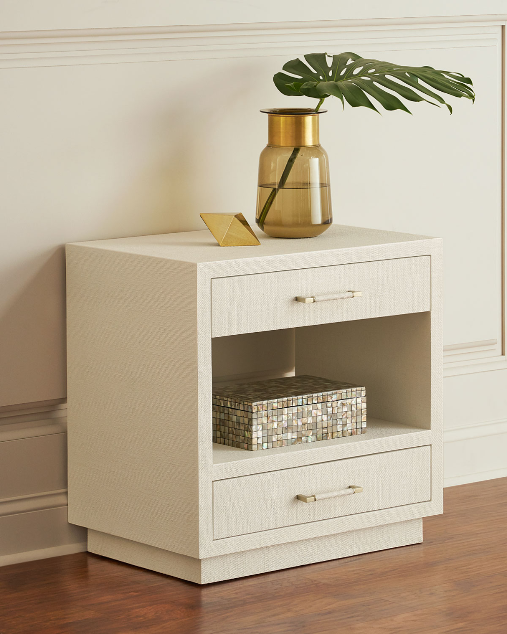 Interlude Home Robyn Bedside Chest, White in 2020