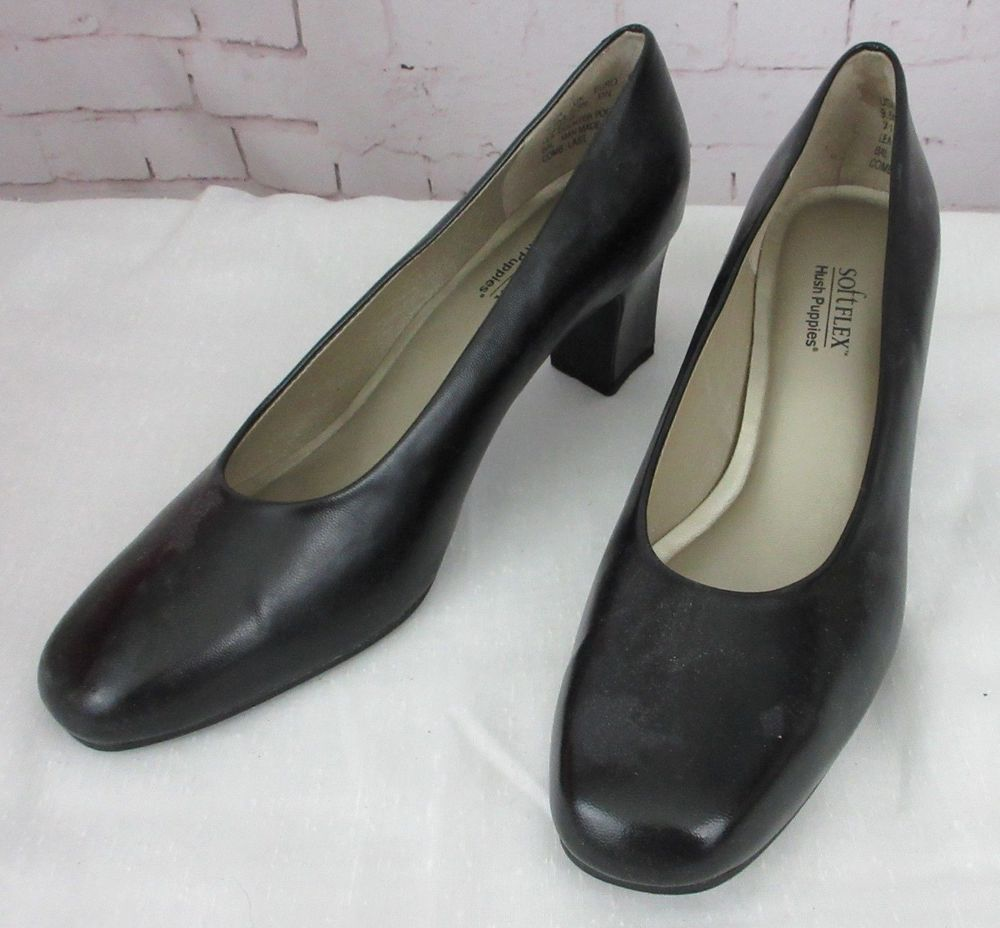 Hush Puppies Softflex Kristy Black Chunky 2 5 High Heel Shoes Size 9 5m Fashion Clothing Shoes Accessories Womenssho Heels High Heel Shoes High Heels