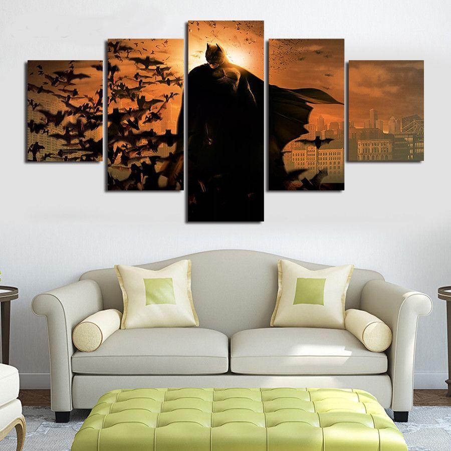 Want this Batman Dusk Falls DC Comics Home Office Decor 5 Panel Wall ...
