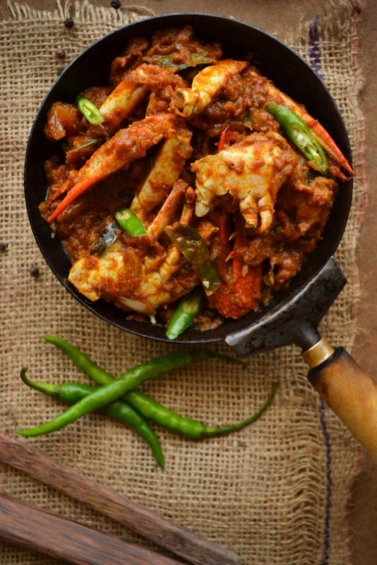 Nadan Njandu Roast Kerala Style Spicy Crab Roast Spicy Crab Fish Curry Recipe Indian Food Recipes