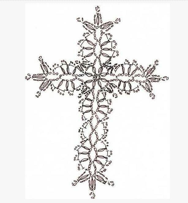 2 of 2 * Crochet Cross pattern   Imagenes   Pinterest   Marcadores ...