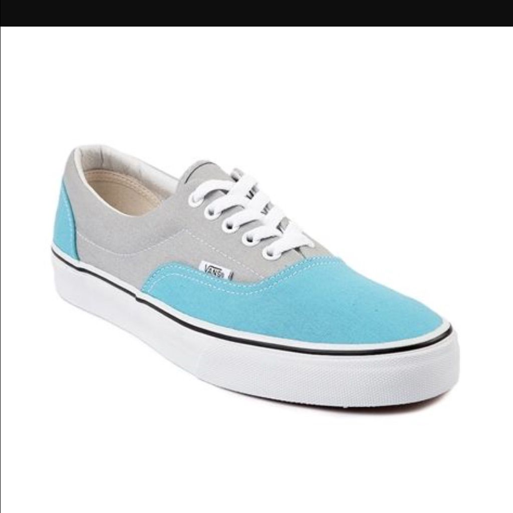 blue and grey vans chaussures
