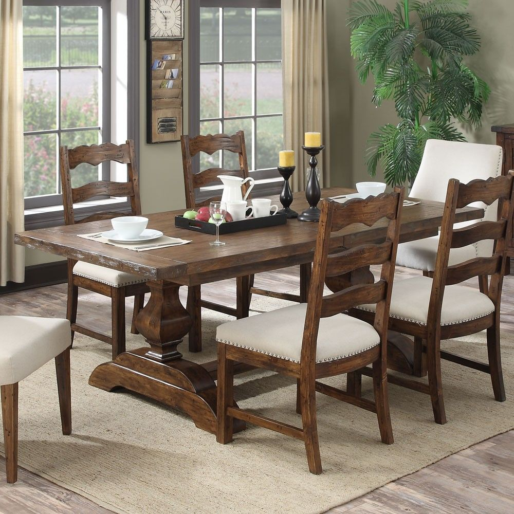 Antique wood dining tables chambers creek wood rectangular dining table in brown by emerald