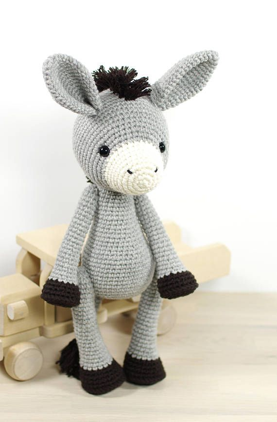 PATTERN: Donkey - Amigurumi crochet pattern and tutorial (EN-077 ...